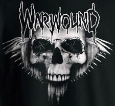 Warwound (skull) shirt / New / S M L XL (Black) Sacrilege Varukers Hellkrusher