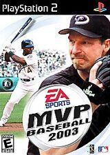 PlayStation 2- MVP BASEBALL 2003 w/Book - Rated E