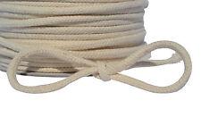 Natural 100% Cotton Braided Rope 8 or 16 Strand SASH Cord Bondage Handle Pulley
