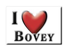 SOUVENIR UK - ENGLAND FRIDGE MAGNET UNITED KINGDOM I LOVE BOVEY (DEVON)