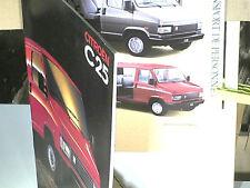 BEAU CATALOGUE CITROEN C25 1990/91 : MINIBUS / CARS / BENNE TP/ PLANCHER CABINE