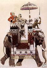 Art Deco Poster/Elephant/East Indian/Fine Tobacco/Phillip Morris Advertising 2