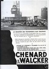 1931 - Publicité Camions semi-remorque CHENARD & WALKER