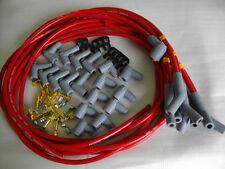 SPARK PLUG LEADS 9 MM RED 45 DEGREE UNIVERSAL HOLDEN CHEV FORD CHRYSLER ETC