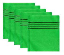 5PCS Korean Exfoliating Bath Washcloth Shower Wash Cloths Dead Skin Towel Green
