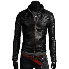 Jacket Leather Man Men Leather jacket Clothes jacket Homme Cuir N11