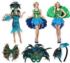 Pfau Pfauen Kostüm Kleid Paradies Vogel Tier Pfauenkostüm Maske Flügel Haarreif