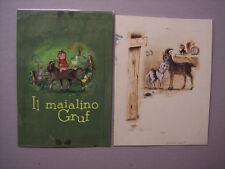 DANIELA PITTON 13 bozzetti originali IL MAIALINO GRUF  ediz. Malipiero 1963 ca.