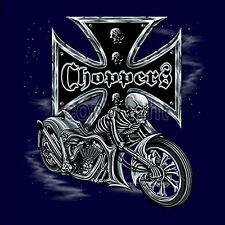 * SweatShirt Biker Pullover  Sweater Custom Bike Choppers Skull Rider *4005 ny