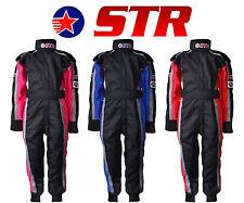 STR Junior Race Suit Overalls Stock Car Micro F2 Fireproof Child Ninja Kart F1