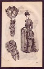 1800's Old Vintage Ladies Women's Victorian Fashion Clothing Art PRINT [#26]