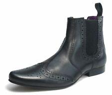 FRANK JAMES Harrow Punta Afilada Cincel Cuero Hombre Chelsea Zapato Oxford negro