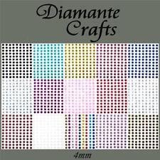 169 x 4mm Diamante Self Adhesive Rhinestone Body Gems Choose from 19 Colours