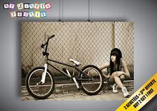 Poster Bmx girl