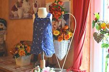 salopette neuve tartine et chocolat 3 mois bleu avec petites fleurs