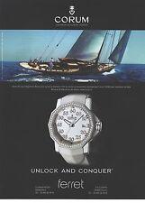 PUBLICITE ADVERTISING 2009   CORUM montre unlock and conquer