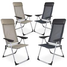 2 Stück Aluminium Gartenstuhl Klappstuhl Campingstuhl Hochlehner in zwei Farben