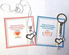 Danke Geschenk for Nurse mit Schutzengel Herz Hat Halskette oder Schlüsselring