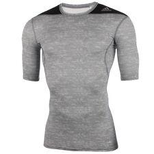camicia funzionale Adidas Tf Base Ss , Uomo, compressione, manica corta, Grigio