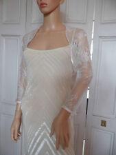 IVORY LACE Bridal Wedding/evening Shrug Bolero.  All sizes 10 - 24