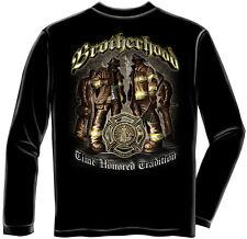 Erazor Bits Long Sleeve T-Shirt Time Honor Tradition Brotherhood Firefighter
