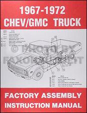 1967-1972 Chevrolet Truck Factory Assembly Manual Pickup Suburban Blazer Chevy