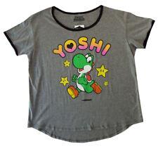 Yoshi- Super Mario- 2XL Junior Women's fit t-Shirt Classic- Nintendo - NEW