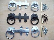 "6"" STEEL RING GATES DOORS SHEDS LATCH LOCK HANDLES"