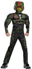 Halo Wars Jerome Muscle Torso Child Costume Jumpsuit Halloween Fancy Dress