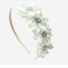 1 Pc Kids Girls Headband Satin Ribbon Flower Hair Wear Hair Accessories FG