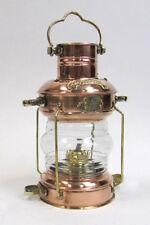 "15"" COPPER / BRASS ANCHOR LAMP ~ SHIP LAMP ~ MARITIME ~ NAUTICAL DECOR ~ BOAT"