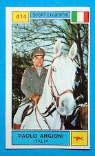 Figurina CAMPIONI DELLO SPORT 1969/70-n.414-ANGIONI (ITA)-SPORT EQUES.-rec