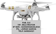 Placa identificativa drone grabada por láser