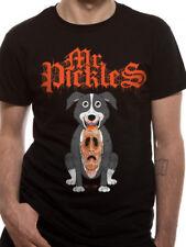 Mr Pickles Face Mask Adult Swim Licensed Black Mens T-shirt