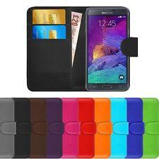 Para Varios Teléfonos Móviles Color Liso Cuero Funda Protectora Tipo Cartera Libro PVP 16.99