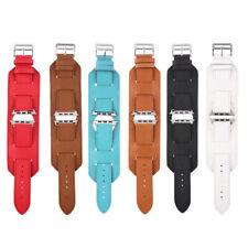 Genuine Leather Watch Band Cuff  Bracelet Wristband Strap Fit Apple Watch iWatch