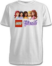 Lego Friends Childrens T-Shirts - 4 Designs /  7 Colours / Sizes 1-15