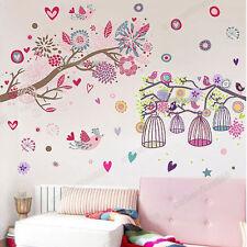 Huge Blossom Flower Bird Cage Tree Wall Sticker Home Decor Mural Paper Decal Art