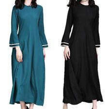 Women Plain Arab Abaya Robe Islamic Burkha Kaftan Muslim Jilbab Long Maxi Dress