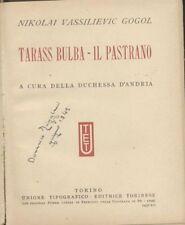 TARASS BULBA - IL PASTRANO di Nikolai Gogol 1937 UTET grandi scrittori stranieri
