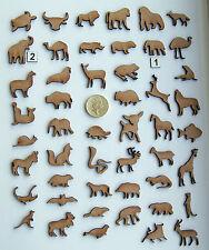 MDF Wood Laser 25mm Cut Out Animal Shapes, craft making, decoration, embellish