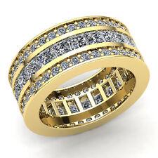 4ct Princess Cut Diamond Ladies Promise Wedding Eternity Band Ring 14K Gold
