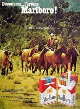 PUBLICITE CIGARETTES MARLBORO COW BOY REGIE FRANCAISE DE 1970 FRENCH AD PUB