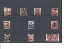 Danzig, Gdansk 1923, Einzelmarken aus MiNrn: 21 - 192 o, alle geprüft Gruber BPP