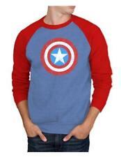 Marvel Captain America Shield Logo Mens Pullover Sweatshirt | S
