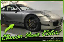 2011 & up Porsche 911 Carrera 998 Side rocker racing stripes GT3 GT2 Style 14