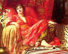 Leila - Frank Bernard Dicksee Pre Raphaelite Art Canvas Poster Print Waterhouse