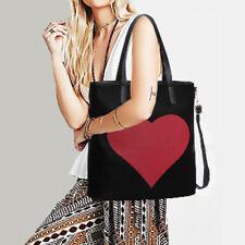 Woman Handbag Faux Leather Shoulder Bag Tote Bag Black Red
