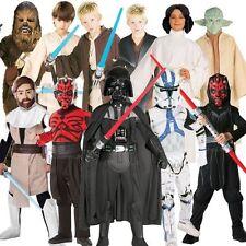 (R) Niño Star Wars Galaxy Chicas Chicos Fancy Dress Costume vigor despierta S M L