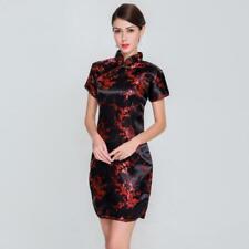 Slim Plus Size Qingdao Chinese Female Rayon Dress Mandarin Collar Vintage